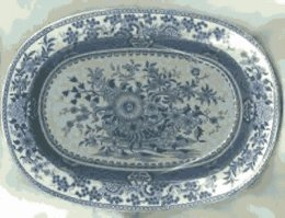 Bathwell & Goodfellow - Transfer Pattern Platter 'Basket Of Flowers'