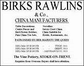 Birks Rawlins & Co. - Advert