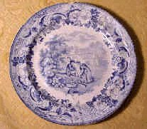 Thomas Goodfellow II - Transfer Pattern Plate 'Rural Scenery'